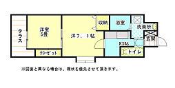 福岡県北九州市小倉北区清水4丁目の賃貸マンションの間取り