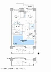 グランマスト橦木町[1階]の間取り