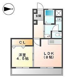 矢田ビル[3階]の間取り