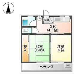名北ビル[2階]の間取り