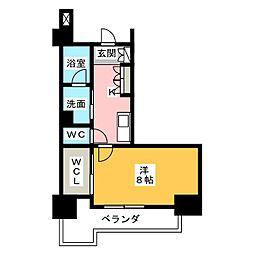 グラン・アベニュー鶴舞公園 10階1Kの間取り