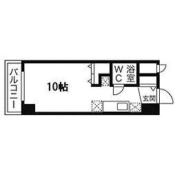 ラメール円山公園[507号室]の間取り