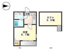 villa志賀本通[2階]の間取り