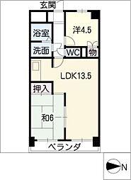シャトー新宮[3階]の間取り