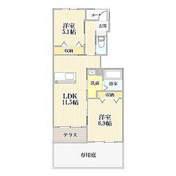 (仮)王司上町新築アパート[105号室]の間取り