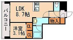 LANDIC  K320 10階1LDKの間取り