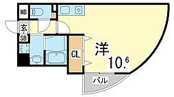 神戸市西神・山手線 伊川谷駅 徒歩3分の賃貸マンション 4階1Kの間取り