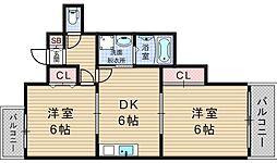 ライフステージヨシダ[2階]の間取り