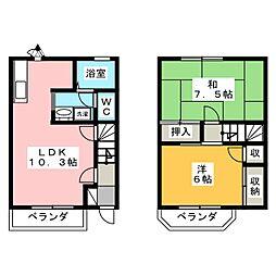 [テラスハウス] 岐阜県瑞穂市古橋 の賃貸【/】の間取り