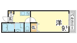 山陽電鉄本線 山陽須磨駅 徒歩8分の賃貸アパート 1階1Kの間取り