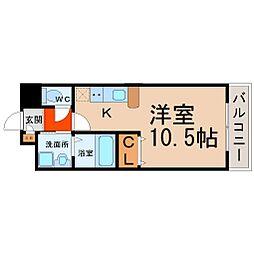 ソラナ平安[6階]の間取り