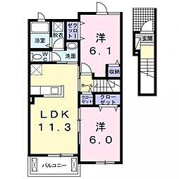 カルムメゾンI[2階]の間取り
