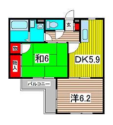 オータムビレッジI[3階]の間取り