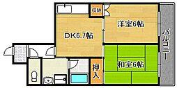 ミタカホーム8番[902号室]の間取り