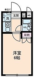 東京都葛飾区高砂2の賃貸マンションの間取り