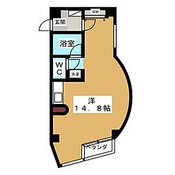 杉庄ハイツ[5階]の間取り