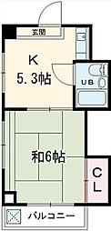 東京都三鷹市上連雀2丁目の賃貸マンションの間取り