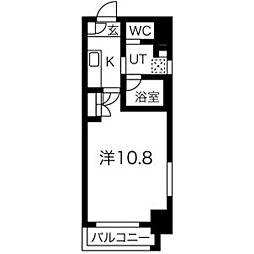 アールズタワー瑞穂運動場西駅前 7階1Kの間取り