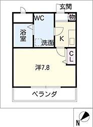 ATSUMARI 1階1Kの間取り