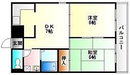 リード21[7階]の間取り