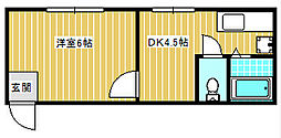 USマンション[201号室]の間取り