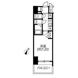 アドバンス名古屋モクシー 7階1Kの間取り
