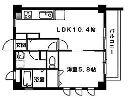 プロージットアズマIII[3階]の間取り