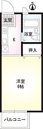戸塚区上倉田町 ジュネス上倉田202号室[2階]の間取り