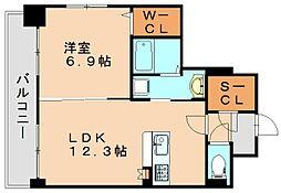 リヴェール箱崎[3階]の間取り