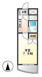 愛知県名古屋市中川区西伏屋2の賃貸マンションの間取り