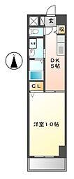 リトルフォレスト[4階]の間取り