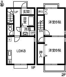 [テラスハウス] 愛知県一宮市丹陽町外崎 の賃貸【/】の間取り