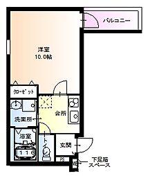 フジパレス堺鳳東6番館[102号室]の間取り