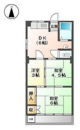 三鈴コーポ[2階]の間取り