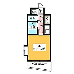 ドミエスポワール箱崎VI[6階]の間取り