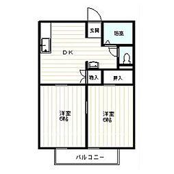 静岡県裾野市千福の賃貸アパートの間取り