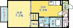 プランドールミニヨン A棟 [202号室]の間取り