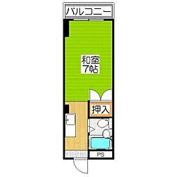 サーライシカワ[302号室]の間取り