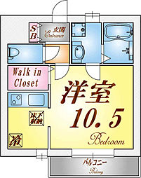 フォレストメゾン須磨寺[105号室]の間取り
