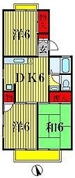 千葉県松戸市新松戸6の賃貸アパートの間取り