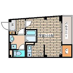 兵庫県神戸市須磨区飛松町1丁目の賃貸アパートの間取り
