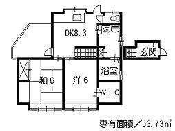 広島県呉市寺本町の賃貸アパートの間取り