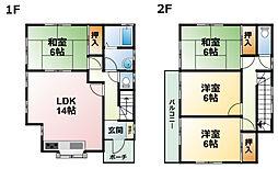 [一戸建] 千葉県八街市大関 の賃貸【/】の間取り