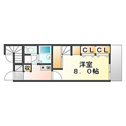 広島県福山市神村町の賃貸アパートの間取り
