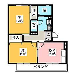 GREEN LEAVES TANAKA[2階]の間取り