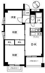 オリエンタルマンション藤が丘[3階]の間取り