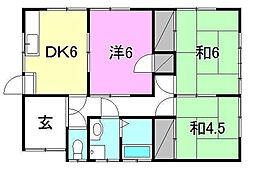 [一戸建] 愛媛県松山市西長戸町 の賃貸【愛媛県 / 松山市】の間取り