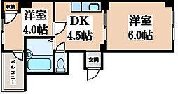 メゾンライブラリー[6階]の間取り