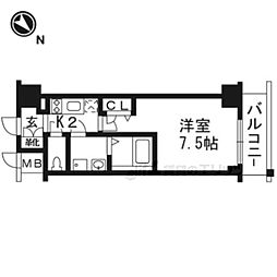 JR東海道・山陽本線 西大路駅 徒歩6分の賃貸マンション 1階1Kの間取り
