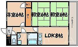 広島県広島市安芸区矢野東7丁目の賃貸マンションの間取り